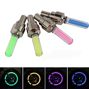 ieftine Breloc LED-LED Lumini de Bicicletă lumini intermitente capac robinet lumini roți - Ciclism montan Bicicletă Ciclism Rezistent la apă Siguranță Potrivite Pentru Autovehicule Ușor de Purtat buton baterie AG10