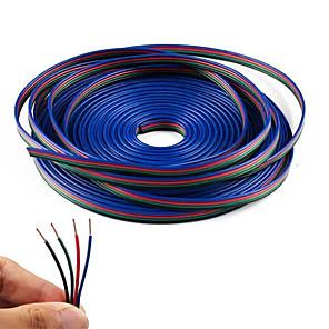 זול ממיר מתח-kwb 20m 4 פינים כבל כבל rgb הארכה כבל 5050 3528 צבע שינוי גמיש הוביל רצועת האור