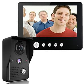 povoljno Kutija i prikaz nakita-mountainone 9 inča video portafon telefon zvono interfon komplet 1-kamera 1 monitor noćni vid