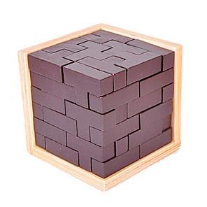 ieftine Puzzle-Tetris Puzzle Lemn Jocuri de Inteligență Luban de blocare Jucarii Pătrat Test de inteligenta Unisex 1 Bucăți