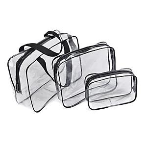 hesapli Seyahat Çantaları-3adet Seyahat Çantası / Seyahat Acentası / Seyahat Bagaj Organizatörü Büyük Kapasite / Su Geçirmez / Taşınabilir Kamp & Yürüyüş / Bagaj PVC / Dayanıklı