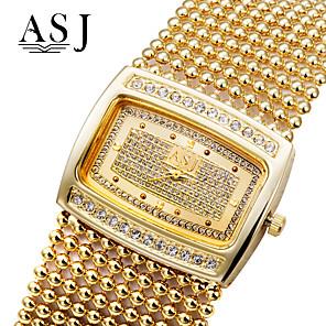 ieftine Ceasuri Brățară-ASJ Pentru femei Ceasuri de lux Ceas Brățară ceas de aur Quartz femei imitație de diamant Cupru Argint / Auriu Analog - Auriu Argintiu / Japoneză / Japoneză