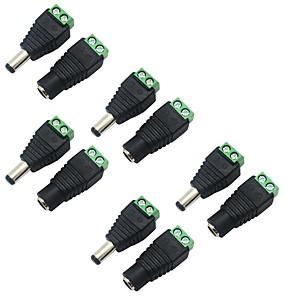 ieftine Conectori-5 pachete 5.5 x 2.1 mm baril putere 12V de la masculin la feminin DC power jack conector adaptor pentru cctv camera de supraveghere video de securitate