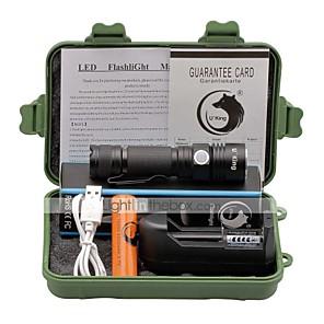 ieftine lanterne-U'King Lanterne LED Mărime Mică 1500 lm LED LED emițători 3 Mod Zbor Cu Baterie și Încărcător Focalizare Ajustabilă Dimensiune Compactă Clip Mărime Mică Camping / Cățărare / Speologie Utilizare