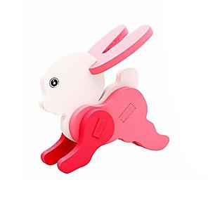 ieftine LED-uri-Puzzle 3D Pegged puzzle-uri Modele de Lemn Rabbit Distracție Lemn Clasic Pentru copii Unisex Jucarii Cadou