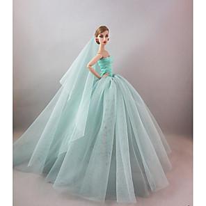 ieftine Haine Păpușă Barbie-Accesorii pentru papusi Haine de Păpușă Rochie de papusa Rochie de mireasă Petrecere / Seară Nuntă Rochie De Bal Fire sintetice Tul Dantelă Poliester Spandex Lycra Terilenă Pentru păpușă de 11,5 inci