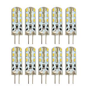 ieftine Becuri LED Bi-pin-HKV 10pcs 2 W Becuri LED Bi-pin 100-200 lm G4 T 24 LED-uri de margele SMD 3014 Alb Cald Alb Rece 220-240 V 12 V / 10 bc / RoHs