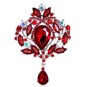 povoljno Bojano-Žene Djevojčice Broševi Kruna Personalized Moda Euramerican Umjetno drago kamenje Broš Jewelry Plava Crno Duga Za Vjenčanje Party Special Occasion Dnevno
