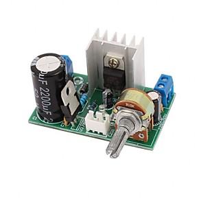 זול ממיר מתח-Lm317 צלחת לוח אספקת חשמל עם הגנה 1.25v-37v 1.5a מתכוונן מתכווננת dc מתח הרגולטור