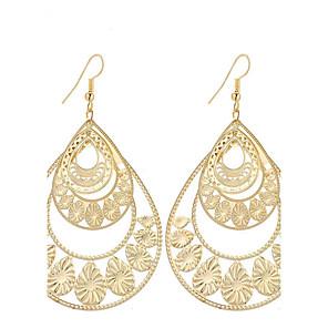 ieftine Bijuterii de Păr-Pentru femei Cercei Picătură Picătură Stil Atârnat Vintage Boem stil minimalist Modă Elegant Argilă Placat Auriu cercei Bijuterii Auriu / Argintiu Pentru Cadouri de Crăciun Nuntă Petrecere Ocazie