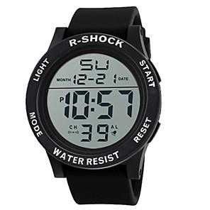 ieftine Ceasuri Bărbați-Bărbați Ceas Sport Ceas digital Digital Charm Silicon Negru Piloane de Menținut Carnea - Alb Negru Albastru