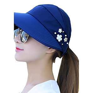 ieftine Pălării Femei-Pentru femei Palarie de soare Bumbac Imprimeu Vară Negru Roșu-aprins Roz Îmbujorat