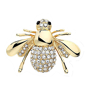 ieftine Broșe-Pentru femei Cristal Broșe European Cute Stil Ștras Broșă Bijuterii Auriu Argintiu Pentru Nuntă Petrecere Zi de Naștere Logodnă Cadou Zilnic