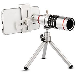 ieftine Stick Tripod Selfie-De înaltă calitate 18x zoom optic telescop teleobiectiv kit kit lentile camera foto cu trepied pentru iphone 6 7 samsung s7 xiaomi mi6
