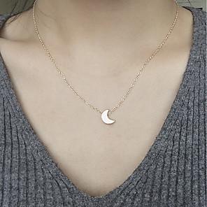 ieftine Colier la Modă-Pentru femei Coliere cu Pandativ MOON Semilună femei Modă Aliaj Auriu Argintiu Coliere Bijuterii Pentru Zilnic