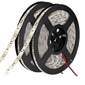 """זול ממיר מתח-רצועות אור led גמישות 600 נוריות 10 מ""""מ לבן חם לבן ירוק צהוב כחול אדום דבק עצמי חיתוך מתאים לרכבים קישוריים dc 12 v"""