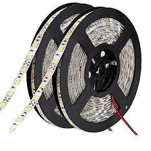 ieftine Benzi Lumină LED-benzi flexibile led 600 leduri 10mm alb alb cald verde verde galben albastru roșu tăiat autoadeziv potrivit pentru vehicule conectabile DC 12v