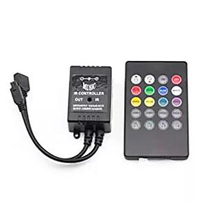 abordables Montres Homme-contrôleur de musique infrarouge supernight 20 clés ir contrôleur de capteur de son contrôleur à distance pour 5050 3528 5630 rgb led bande lumineuse flexible