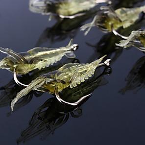 ieftine Momeală Pescuit-10 pcs Δόλωμα Momeală moale Jerkbaits Crevetă Plutire Scufundare Bass Păstrăv Ştiucă Pescuit mare Pescuit cu Muscă Aruncare Momeală Plastic moale Silicon / Filare / Pescuit la Oscilantă