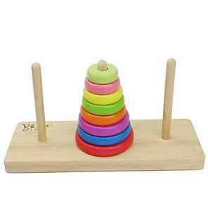 povoljno Muški satovi-Tower of Hanoi Kocke za slaganje Poučna igračka Klasični Fun & Whimsical Dječaci Djevojčice Igračke za kućne ljubimce Poklon