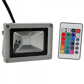ieftine Proiectoare LED-HKV 10 W Proiectoare LED Rezistent la apă Ajustabil Ușor de Instalat RGB 85-265 V Depozit / Debara Garaj / Parcare Lumina Exterior 1 LED-uri de margele