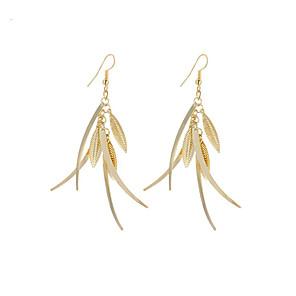 ieftine Spoturi LED-Pentru femei Cercei Picătură Leaf Shape femei Stil Atârnat Vintage Boem stil minimalist Modă Argilă Placat Auriu cercei Bijuterii Auriu / Argintiu Pentru Cadouri de Crăciun Nuntă Petrecere Ocazie