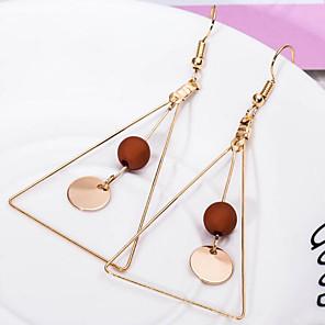 ieftine Cercei-Pentru femei Cercei Picătură Geometric femei stil minimalist cercei Bijuterii Negru / Alb / Cafea Pentru Zilnic