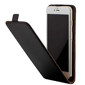 Недорогие Чехлы и кейсы для Galaxy S3-Кейс для Назначение Apple iPhone 7 Plus / iPhone 7 / iPhone 6s Plus Защита от удара / Флип Чехол Однотонный Твердый Кожа PU