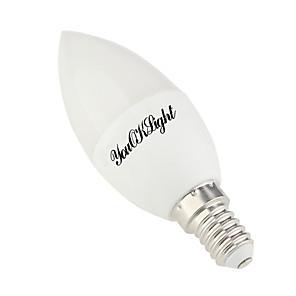 1pc 4 W LED-lysestakepærer 300-350 lm E14 E12 10 LED perler SMD 5730 Varm hvit Kjølig hvit 85-265 V / 1 stk.