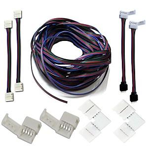 ieftine Conectori-aripi conectori seturi complete kituri de bandă pentru împingerea jumperului Conector pentru colț în formă de l rgb Cablu prelungitor pentru conectori
