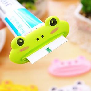 hesapli Banyo Gereçleri-1 adet hayvan kolay diş macunu dispenseri plastik diş macunu tüp sıkacağı faydalı banyo macunu haddeleme ev banyo için tutucu