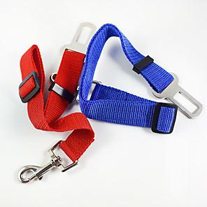 ieftine Câini Gulere, hamuri și Curelușe-Câine Lese Mâinile Leash Free Scaun Mașină Câini / Echipament Siguranță Câini Ajustabile / Retractabil Antrenament Pentru Mașină Mată Material Textil Aliaj Rosu Albastru