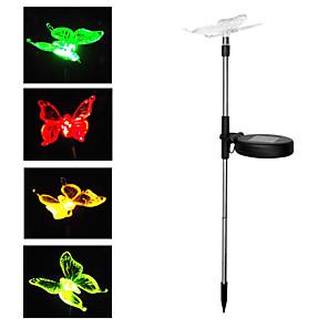 ieftine Lumini de cale-breung 1 pc solare rgb fluture lumina gazon dc4.5v