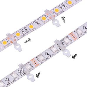 ieftine LED-uri-100 pachet de prindere de lumină clip de fixare pentru exterior în silicon acoperite de 10mm lățime pcb rezistent la apa smd5050 benzi conduse