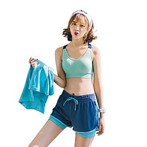 billige Herreure-Dame Løbeshorts Sports BH Top SportsBH'er Yoga Træning & Fitness Hurtigtørrende Bekvem Usynlig Marine Blå Klassisk / 2 Dele / Elastisk