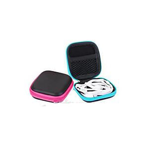 hesapli Seyahat Çantaları-1pc Seyahat Acentası Seyahat Bagaj Organizatörü Etui na słuchawki / Kablo Sarıcı Büyük Kapasite Su Geçirmez Taşınabilir için Çamaşırlar Kulaklık USB Kablosu PU Deri 7.5*7.5 cm / Dayanıklı