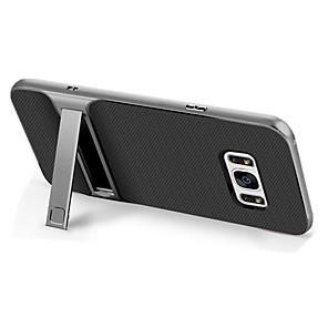 baratos Capinhas para Galaxy Série S-Capinha Para Samsung Galaxy S8 Plus / S8 / S7 Antichoque / Com Suporte Capa traseira Sólido Rígida TPU