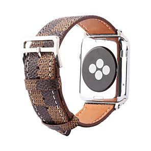 billiga LED-prylar-Klockarmband för Apple Watch Series 5/4/3/2/1 Apple Klassiskt spänne Äkta Läder Handledsrem