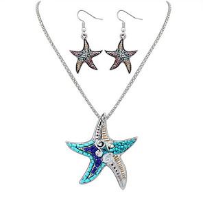ieftine Seturi de Bijuterii-Pentru femei Colier / cercei Modă Euramerican cercei Bijuterii Auriu / Argintiu Pentru Nuntă Petrecere Aniversare