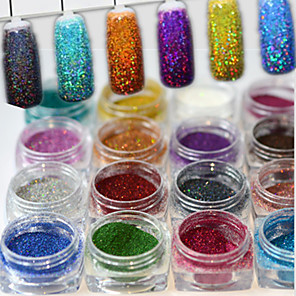 ieftine Îngrijire Unghii-1set 17pcs Pudră / Pulbere cu sclipici Elegant & Luxos / Strălucitor & Sclipitor / Glitter de unghii Nail Art Design