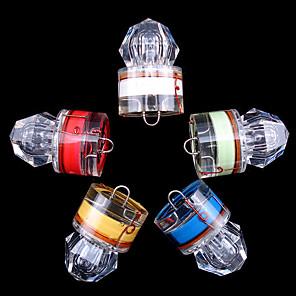 hesapli Balıkçılık Işıkları-5pcs Sualtı Işıkları Balık Işıkları LED Sualtı Su Geçirmez Elmas Görünüm Balıkçılık