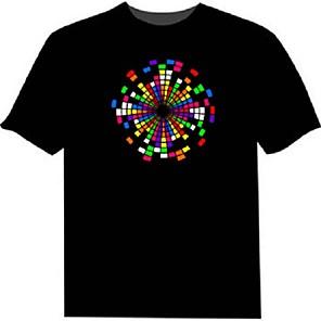 お買い得  LED T シャツ-led Tシャツ100%綿2 aaaバッテリー高品質の夜間ライト