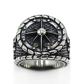 ieftine Colier la Modă-Bărbați Pentru femei Inel degetul mare Argintiu Teak Oțel titan Circle Shape femei Gotic Ocazie specială Party / Seara Bijuterii Logo Gravat