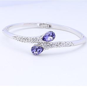 ieftine Brățări-Pentru femei Brățări Bantă Vintage Natură Modă Confecționat Manual Cristal Bijuterii brățară Mov / Albastru / Roz Pentru Nuntă Petrecere Aniversare Zi de Naștere Venire Acasă