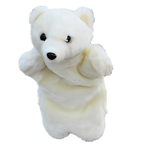 cheap Puppets-Finger Puppets Christmas Gift Puppets Cute Animals Lovely Bear Polar bear Plush Fabric Plush Kid's Toy Gift