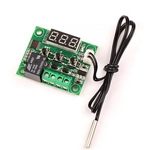 זול ממיר מתח-12v dc הקירור הדיגיטלי / חימום תרמוסטט טמפ בקרת 50-110 ג טמפרטורה בקר 10a ממסר עם חיישן עמיד במים