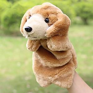 ieftine Păpuși-1 pcs Păpuși de Degete Păpuși Păpușă Mână Păpuși de mână Caini Drăguț Animale Încântător Mărime Mare Material Din Fâș Pluș Joc imaginar, ciorapi, daruri de mare aniversare Fete Pentru copii