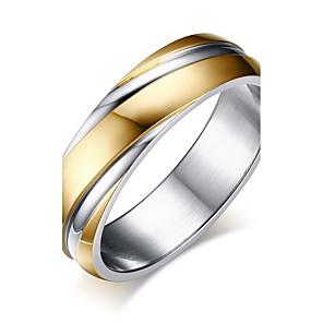 ieftine Ceasuri Bărbați-Bărbați Band Ring Groove Inele Auriu Teak Circle Shape Modă Nuntă Mascaradă Bijuterii Două-Tonuri