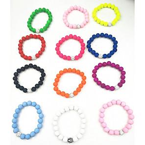 cheap Bakeware-Women's Bead Bracelet Ladies Vintage Natural Fashion Resin Bracelet Jewelry Green / Pink / Light Blue For Gift