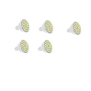 ieftine Becuri LED Încastrate-5pcs 5 W Spoturi LED 450-550 lm MR16 30 SMD LED-uri de margele SMD 5050 Alb Cald Alb 12 V / 5 bc